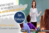 Milli Eğitim'den Öğretmenlere Müjde! İzin ve Ek Ders Ödemesi