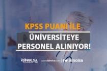 Üniversiteye KPSS Puanı İle Hemşire Alım İlanı Yayımlandı!