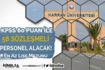 Harran Üniversitesi Hastanesine 58 Sağlık Personeli Alım İlanı 2020