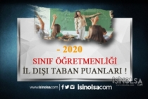 2020 İl Dışı Tayin Sınıf Öğretmenliği Taban Puanlar