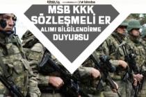 MSB Kara Kuvvetleri Komutanlığı, Sözleşmeli Er Alımı Bilgilendirme Duyurusu Geldi!