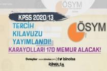 ÖSYM KPSS 2020/13 Tercih Kılavuzu Yayımladı! KGM 170 Memur Alacak!