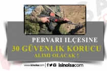 Jandarma Pervari İlçesine 30 Güvenlik Korucusu Alınacak!