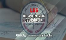 MEB'den LGS Kılavuzunda Değişiklik