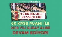 TSK Kadın Erkek 2019 Yılı Subay Alımları Devam Ediyor! Yaş, Eğitim, KPSS Detayları