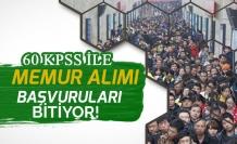 KPSS'den 60 Puan ile 15 Memur Alımı Başvurusu Bugün Bitiyor (20 Ocak)