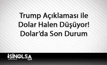 Trump Açıklamalarının Ardından Dolar Erimeye Devam Ediyor