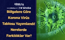 Bölgelere Göre Korona Virüs Tablosu Yayımlandı! Nerelerde Farklılıklar Var?