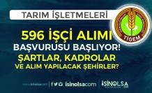 TİGEM 596 İşçi Alımı İŞKUR'da Başlıyor! Şehirler, Kadrolar ve Şartlar