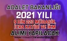Adalet Bakanlığı 9 Bin 223 Zabıt Katibi, Mübaşir ve İKM Alımı Devam Ediyor.