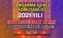 Jandarma Sözleşmeli / Muvazzaf 1640 Astsubay Alımı Başvuru Ekranı Açıldı!
