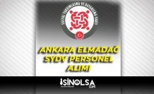 Ankara Elmadağ SYDV 7 Temizlik İşçisi Alımı İlanı
