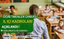 Öğretmenler Dikkat ! 2021 İl İçi Öğretmen İhtiyaç Listeleri Yayınlandı !