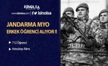 Jandarma MYO'ya 712 Erkek Öğrenci Alınıyor !
