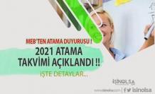 MEB'ten Atama Duyurusu ! 2021 Güncel Tayinler İçin Takvimler Belirlendi !!