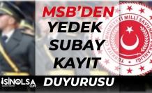 MSB'den Duyuru! KKK Yedek Subay Kayıt Duyurusu Yapıldı!