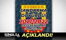 Jandarma Duyurdu! 2021-2022 Değerlendirme Sonuçları Açıklandı!