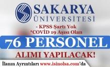 Sakarya Üniversitesi Covid 19 Aşısı Olan Geçici 76 Personel Alımı Tarihi Değişti