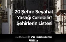 20 Şehre Seyahat Yasağı Gelebilir! Şehirlerin Listesi