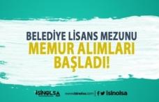 Akseki Belediyesi Lisans Memur Alımı Başvuru Süreci Başladı