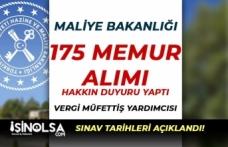 Maliye Bakanlığı Vergi Müfettiş Yardımcısı Alımı Sınav Tarihleri