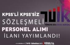 Türkiye İstatistik Kurumu ( TÜİK ) KPSS'li KPSS'siz Personel Alımı İlanı 2021