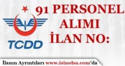 TCDD 91 Personel Alımı İlan Numaraları