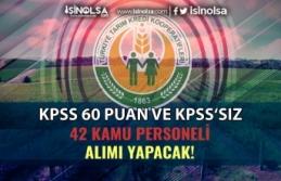 Antalya Tarım Kredi 60 KPSS İle ve KPSS'siz 42 Personel Alımı Yapıyor
