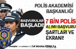 EGM PA 26. Dönem POMEM 7 Bin Polis Alımı Başvuru...