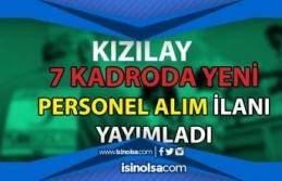 Kızılay 7 Farklı Kadroda KPSS Siz Personel Alımı...