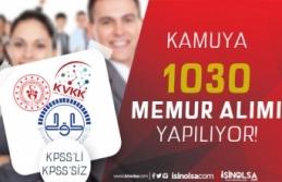 Adaylar Dikkat! KVKK, GSB ve DİB 1030 Memur Alımı...