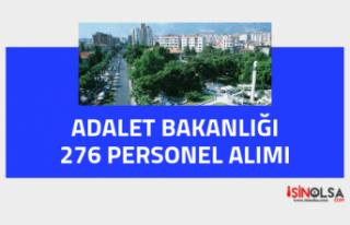 Adalet Bakanlığı Taşra için 276 Personel Alımı...