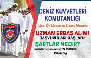 Deniz Kuvvetleri Komutanlığı Uzman Erbaş Alımı...