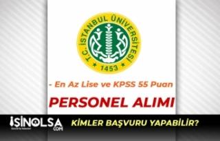 İstanbul Üniversitesi Sağlık Personeli Alıyor!...