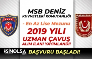 MSB DKK En Az Lise Mezunu 2019 Yılı Uzman Çavuş...