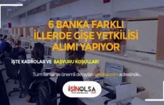 6 Bankaya Gişe Yetkilisi Alımı Yapılıyor! Çalışma...
