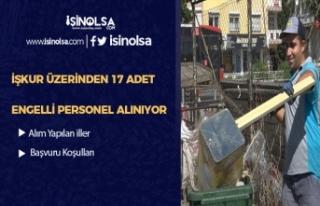 İŞKUR Üzerinden 17 Adet Engelli Temizlik Personeli...