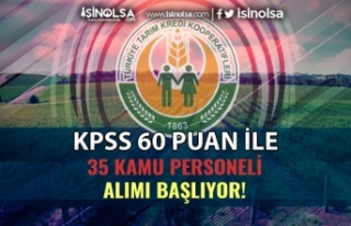 Sakarya Tarım Kredi KPSS 60 Puan İle 35 Kamu Personeli...