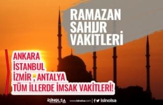 2020 Ramazan İmsakiyesi Ankara, İstanbul İl İl...
