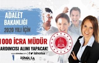 2020 Yılı 1000 İcra Müdür Yardımcısı Alınacak!...