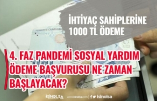 1000 TL Sosyal Yardım Destek Ödemesi 4. Faz Başvurusu...