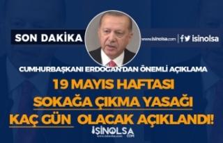 16, 17, 18 ve 19 Mayıs Sokağa Çıkma Yasağı Varmı...