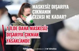 1 İlde Daha Maskesiz Dışarıya Çıkmak Yasaklandı!...