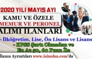 2020 Mayıs Ayı Kamuya Düşük KPSS ile KPSS'siz...