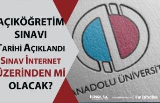 Açıköğretim AÖF Sınavları İnternet Üzerinden...