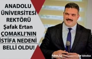 Anadolu Üniversitesi Rektörü Şafak Ertan Çomaklı...