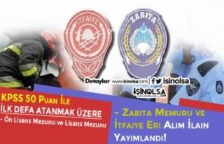 Belediye'den 50 KPSS Puanı İle İtfaiye Eri...