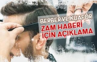 """""""Berber ve Kuaförlerde Yüzde 40 Ücret Zammı""""..."""