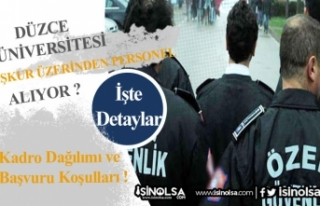 Düzce Üniversitesi 70 Hasta Bakım ve Güvenlik...