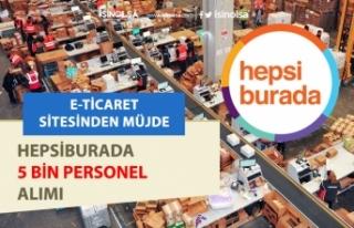 Hepsiburada, Hepsijet ile HepsiExpress 5 Bin Personel...